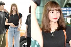 Lisa (BlackPink) giản dị với quần jeans và áo crop top khoe eo thon