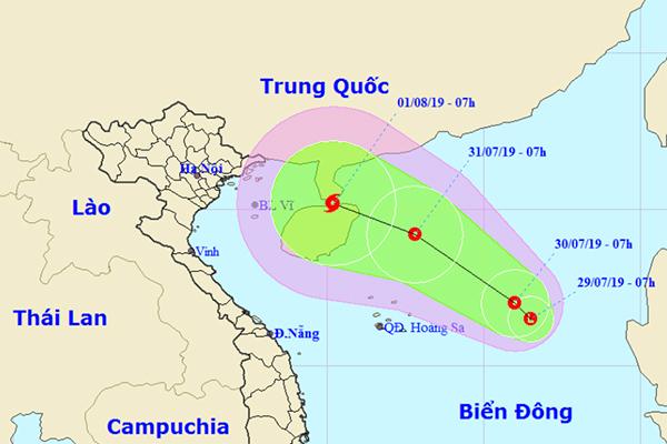 Xuất hiện vùng áp thấp trên Biển Đông, có thể mạnh thành bão