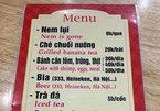 Thực đơn siêu hài hước khi nhờ Google dịch menu từ Việt sang Anh