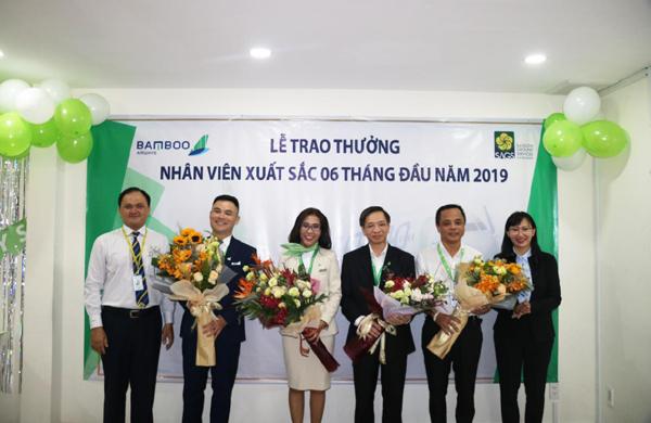 Bamboo Airways vinh danh nhân viên công ty Phục vụ mặt đất Sài Gòn