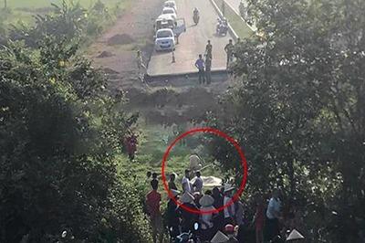 Thi thể người đàn ông dưới ruộng, cuối con đường xây dở ở Vĩnh Phúc
