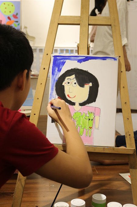 Hanoi exhibition showcases art by autistic children