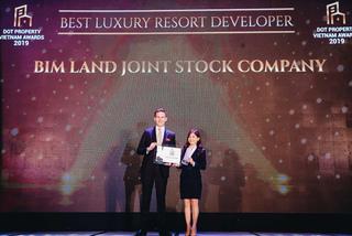 BIM Land nhận giải Nhà phát triển BĐS nghỉ dưỡng cao cấp tốt nhất Việt Nam 2019