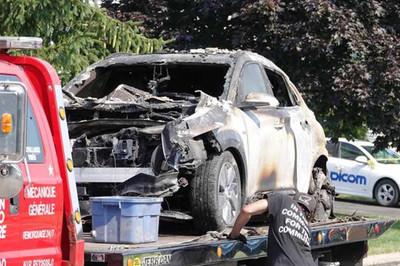 Ô tô điện Hyundai Kona phát nổ trong gara
