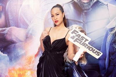 Phương Mai mặc đầm xẻ sâu sexy hết cỡ làm MC buổi ra mắt 'Fast & Furious: Hobbs & Shaw'