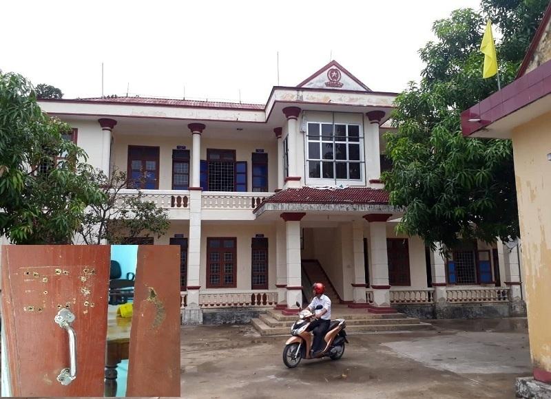 Phòng chủ tịch, phó chủ tịch xã ở Quảng Bình bị trộm phá cửa