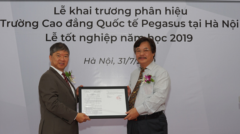 Khai trương phân hiệu trường CĐ quốc tế Pegasus tại Hà Nội