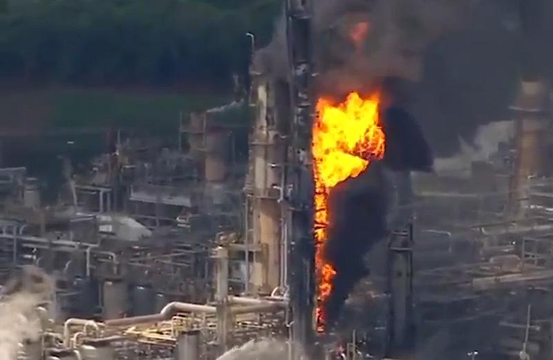 Cháy,hỏa hoạn,nhà máy lọc dầu,Exxon Mobil,Mỹ