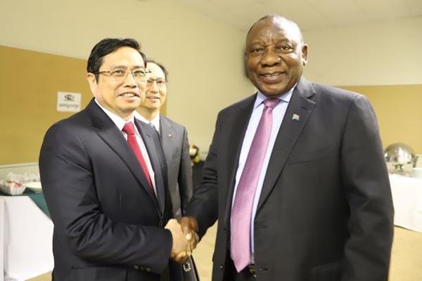 Trưởng Ban Tổ chức TƯ Phạm Minh Chính thăm và làm việc tại Nam Phi