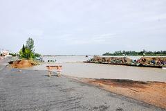 Gần 100m quốc lộ 91 ở An Giang đổ sụp xuống sông Hậu