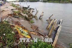 Mekong Delta suffers from coastal erosion, landslides