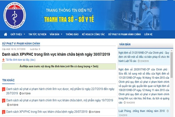 Sở Y tế TP.HCM xử phạm hàng loạt cơ sở do vi phạm về quảng cáo