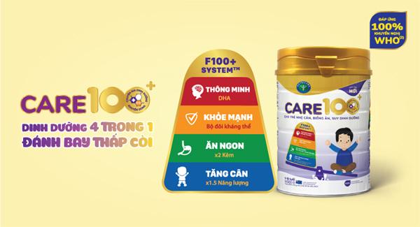 Nutricare ra mắt sữa Care 100+ giúp trẻ tăng cân, kịp đà tăng trưởng