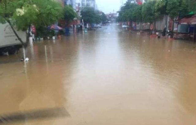 Mộc Châu chìm trong biển nướcdo ảnh hưởng bão số 3