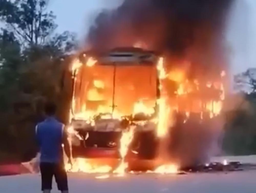 cháy xe khách,Bình Thuận