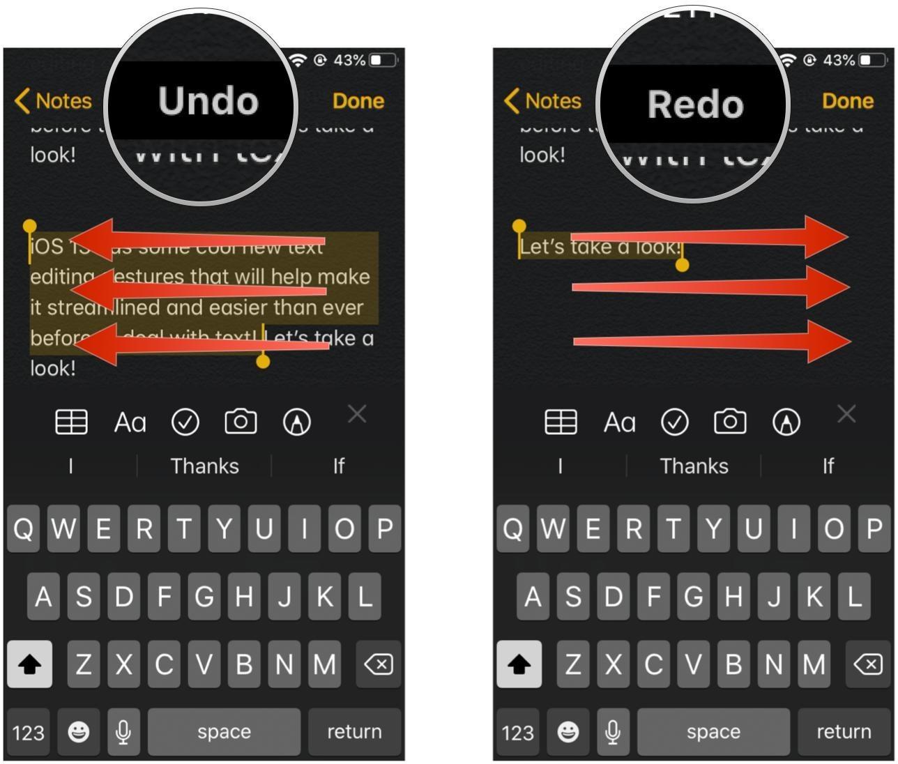 Cách chỉnh sửa văn bản trên iOS 13 và iPadOS 13
