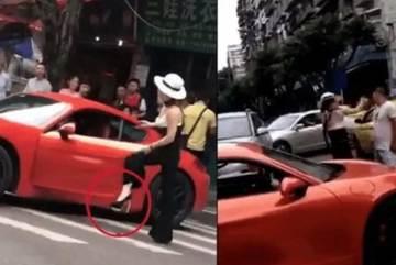 Nữ tài xế lái ẩu ăn tát 'cháy mặt', chồng công an bị sa thải