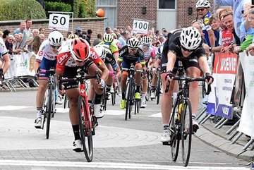 Vietnam's Nguyen Thi That second in Belgian cycling event