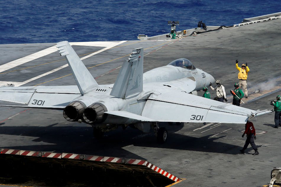Tàu sân bay Mỹ hoạt động huấn luyện ở Biển Đông