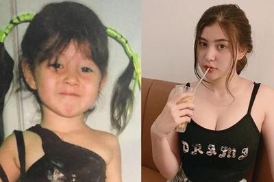 Những hot girl xinh xắn ngày bé, gợi cảm khi trưởng thành