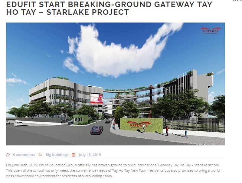 Trước vụ bỏ trẻ chết trong ô tô, trường Gateway nhận 800 tỷ xây thêm trường mới