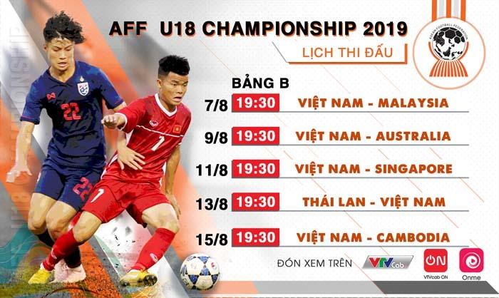 Xem trực tiếp U18 Đông Nam Á 2019 ở đâu?