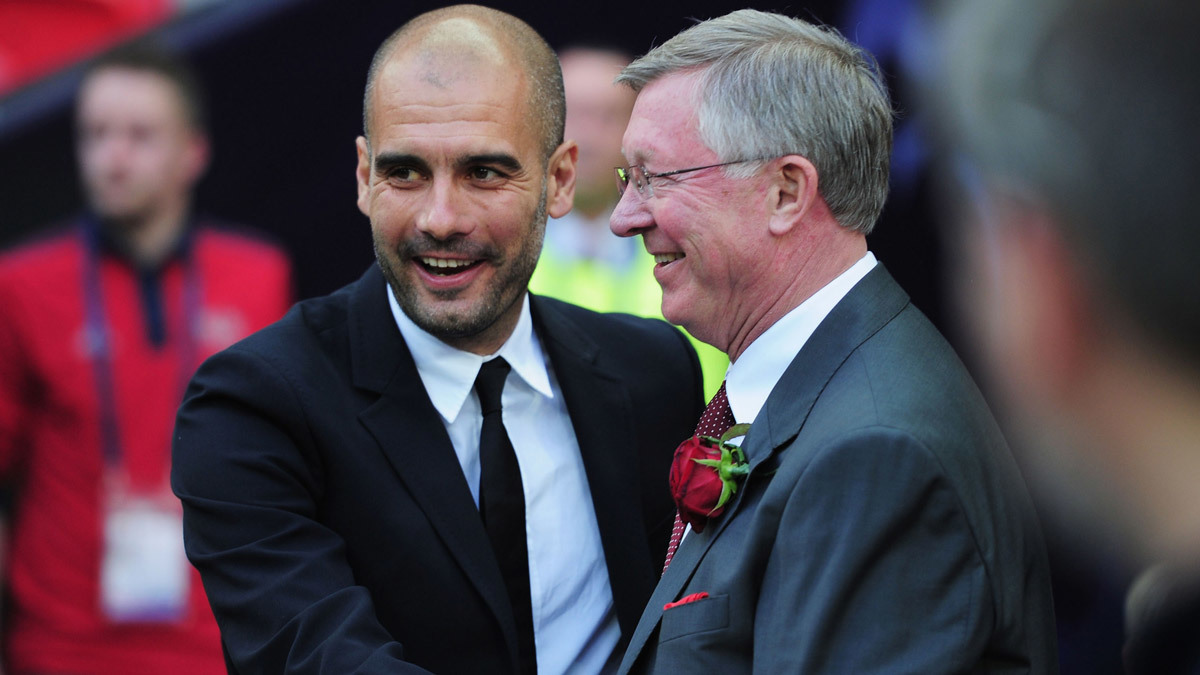 Man City,Pep Guardiola,Sir Alex Ferguson,MU