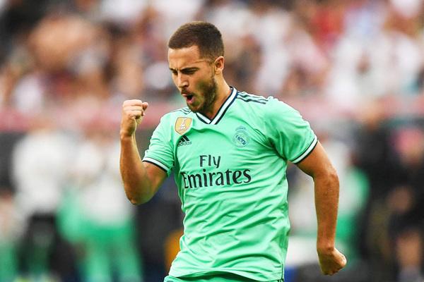 Hazard ghi siêu phẩm bàn thắng đầu tiên ở Real Madrid