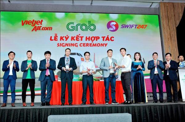 Vietjet, Swift247 và Grab hợp tác giao hàng hỏa tốc