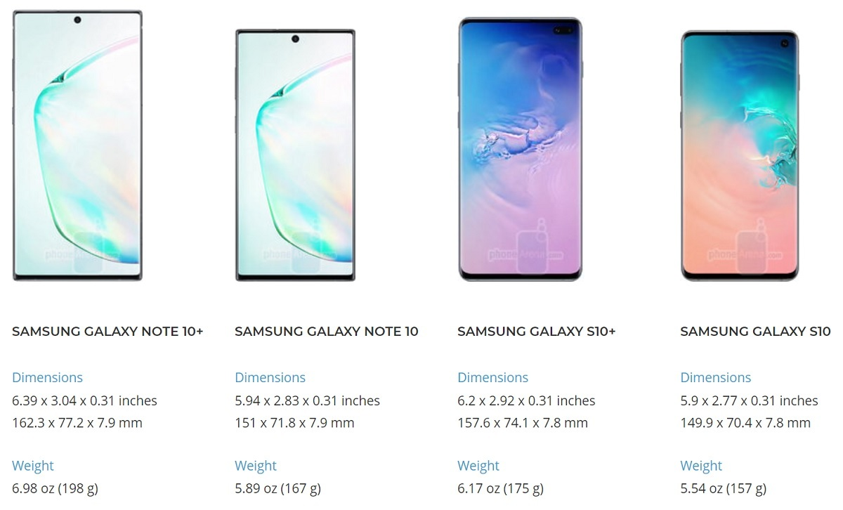 Galaxy Note 10,Galaxy Note 10+,Samsung