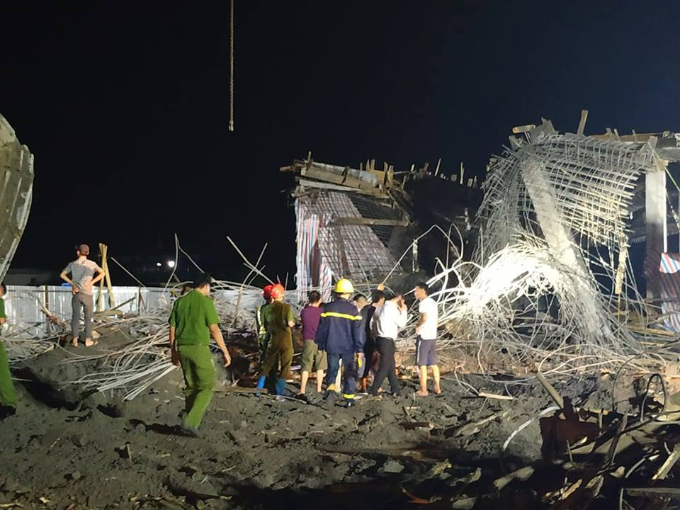 Sập giàn giáo ở Hải Phòng, 1 người mất tích, 7 người bị thương