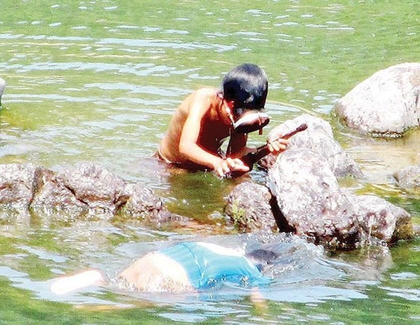 Summer days of children in countryside