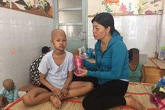 Bé gái kiên cường chống chọi căn bệnh ung thư