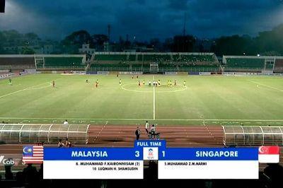U18 Malaysia dễ dàng đè bẹp U18 Singapore