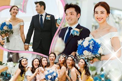 Á hậu Hong Kong hạnh phúc kết hôn cùng bạn thời thơ ấu