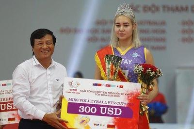 """Chân dài bóng chuyền Kazakhstan """"ẵm"""" giải Hoa khôi VTV Cup 2019"""