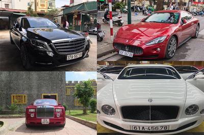 Loạt ô tô sang biển số sảnh cực chất của đại gia Việt
