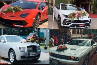 Loạt xe cưới sang chảnh của giới siêu giàu