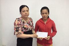 Trao hơn 41 triệu đồng cho bé Nguyễn Hà Nhã Trân