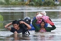 Lũ lụt, lở đất kinh hoàng ở Myanmar, hàng chục người chết