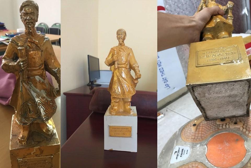 Mạo danh đền Trần nhét sắt, nhồi xi măng vào tượng Phật dát vàng