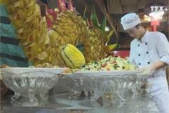 Vegan food market bustling prior to Vu Lan