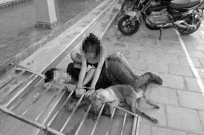 Cặp đôi Thanh Hóa trộm chó bị đánh, xích cùng tang vật