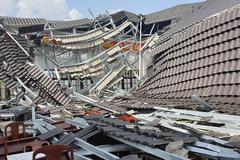 Hội trường thị trấn ở Hậu Giang bất ngờ đổ sập sau 8 tháng bàn giao