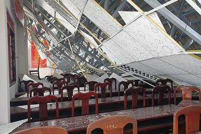 Điều tra vụ hội trường thị trấn ở Hậu Giang đổ sập sau 8 tháng bàn giao
