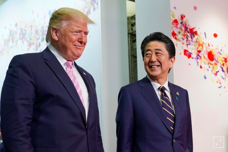 Donald Trump,Thủ tướng Nhật,thương chiến,hàng nông sản