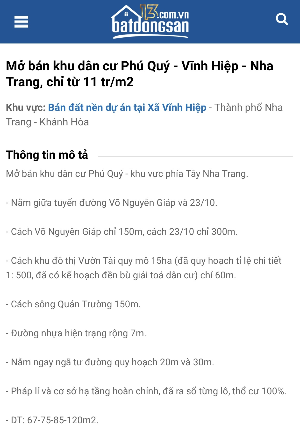 dự án ma,Khánh Hoà,phân lô bán nền