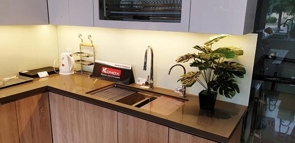 Nhiều ưu đãi khi mua chậu vòi Konox ở hệ thống siêu thị bếp iKitchen