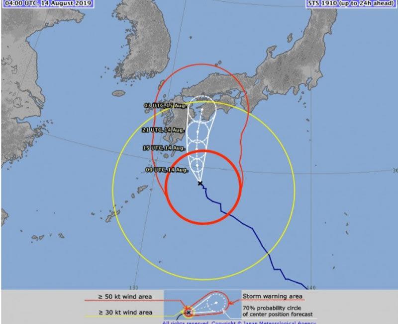 Nhật Bản,nắng nóng,bão,thiên tai