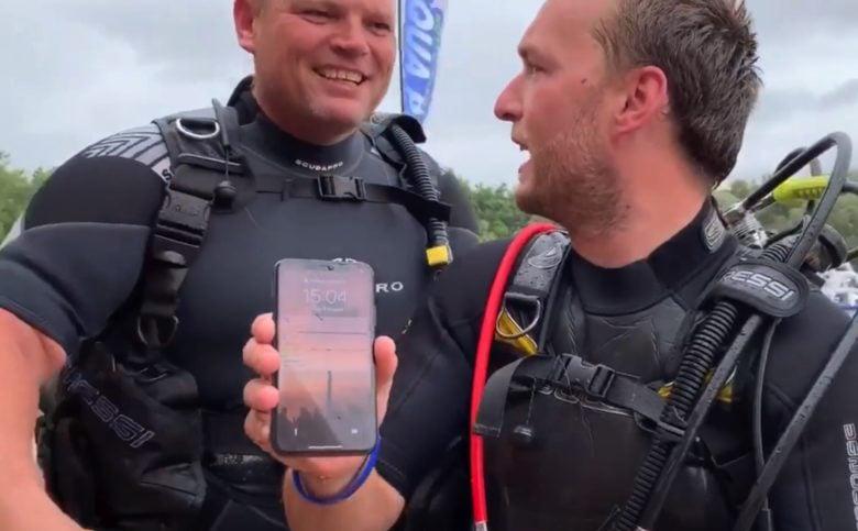 iPhone X 'sống sót' sau 2 ngày ngâm nước dưới đáy hồ